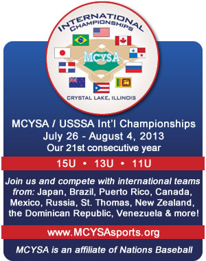 MCYSA International Championships - Summer 2013 - Our 21st consecutive year. www.MCYSAsports.org