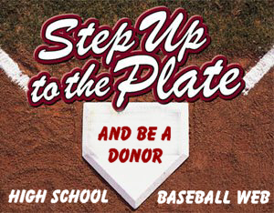 Step Up to the Plate - Donate!